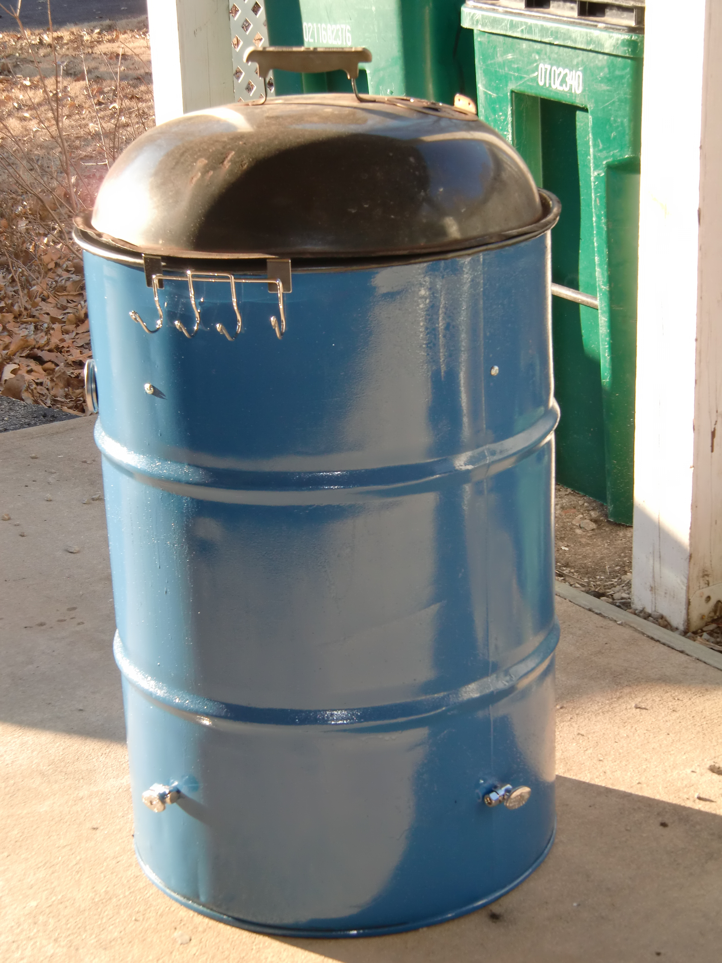 Making A 55 Gallon Steel Drum Into BBQ Smoker Simpson Bbq