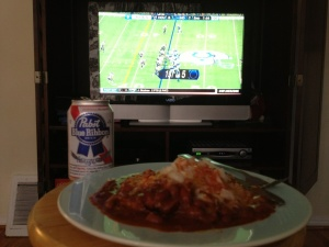 Want to see my chili dog and PBR lunch? Follow me on Twitter.