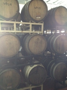 Barrels full of sundry beer