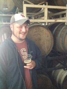 Beer in hand; Beer behind