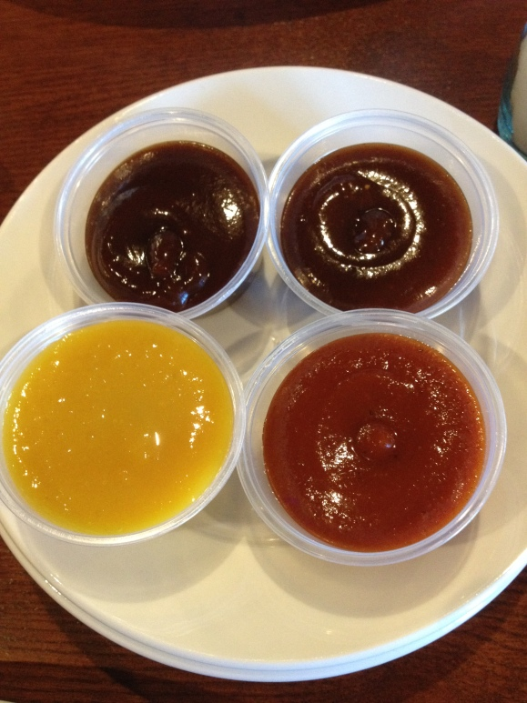 Four sauces, none like the other