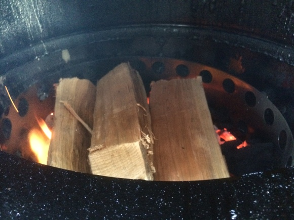 Cherry wood logs in the WSM